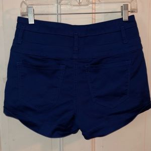 Charlotte Russe Shorts - Charlotte Russe blue high waisted jean shorts, EUC